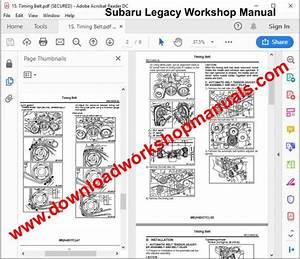 Subaru Legacy Workshop Repair Manual