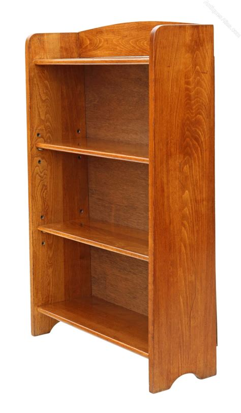 Beech Bookcase by Small Adjustable Beech Bookcase Display Shelves Antiques
