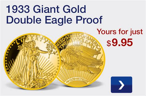 gold eagle american mint double 1933 silver americanmint coins proof giant