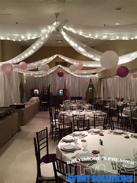 how to drape a ceiling for wedding reception ceiling drape pipe and drape and paper lanterns for