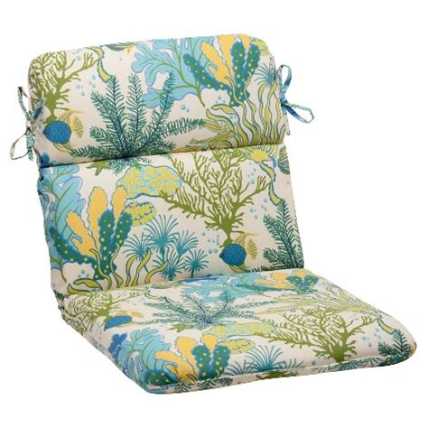 outdoor rounded chair cushion green blue target