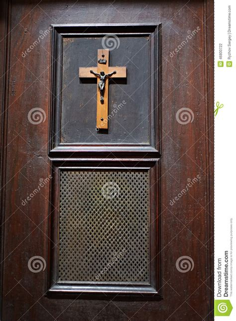 door  room  church  confession stock photo image