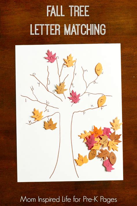 fall tree letter matching