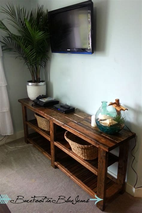 ana white diy rustic console table diy projects