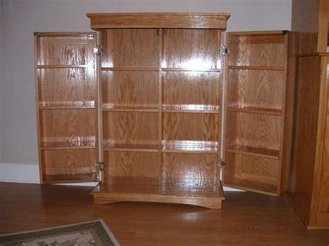 hand  dvd cabinet  richards woodworking custommadecom