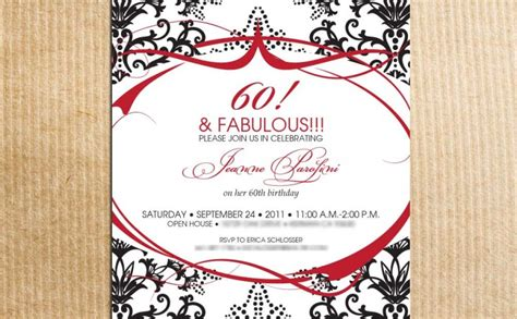 60th Birthday Invites Free Template by Free 60th Birthday Invitations Templates Invitation