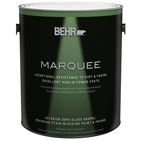 behr marquee 1 gal base semi gloss enamel exterior paint 545301 the home depot