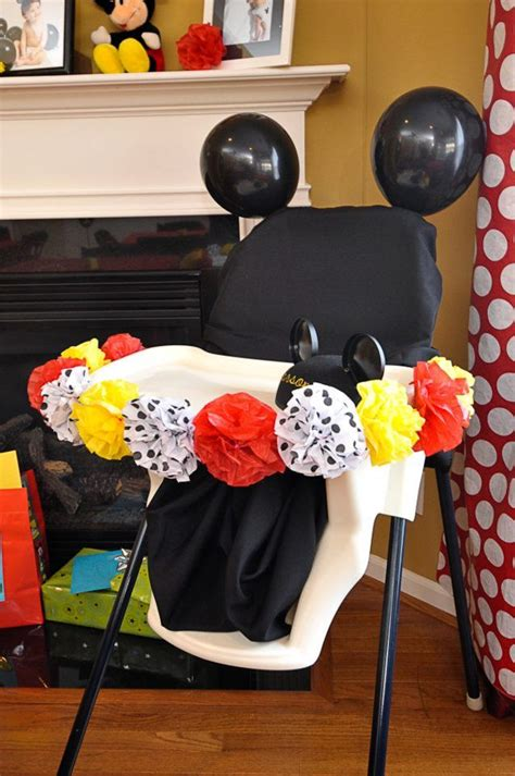 Mickey Mouse High Chair Decorations - 25 best ideas about birthday chair on
