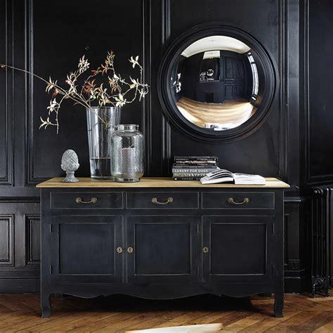 miroir convexe en bois noir   cm en  miroirs miroirs de sorciere cadres bombes