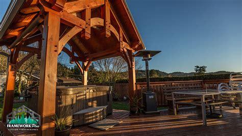 tub and spa timber frame tub pavilion in gresham or framework plus