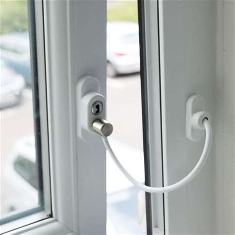 penkid window cable restrictor white misc hardware window restrictors penkid window cable