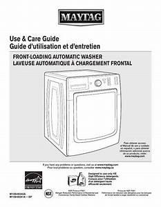 Maytag Mhw8100dc Maxima Washing Machine User Instructions