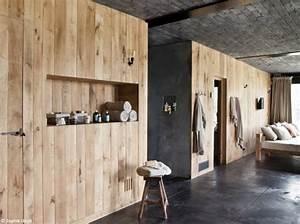 Mur En Bois Intérieur Decoratif : r sultat de recherche d 39 images pour plafond beton et mur volige bois brut mur pinterest ~ Teatrodelosmanantiales.com Idées de Décoration