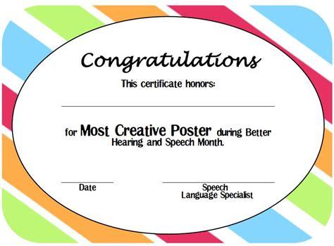 Speech Contest Certificate Template by Live Speech Bhsm Info Contest Printable