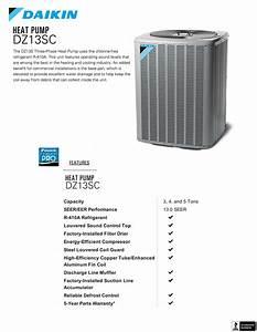 3 Ton Daikin Heat Pump Condenser 208  230v 3 Phase