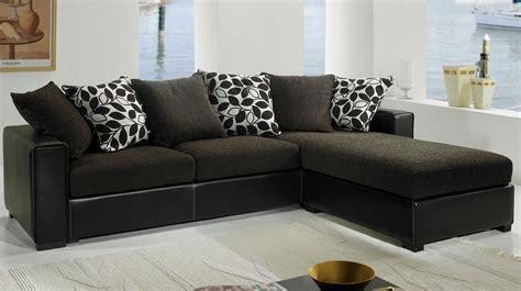 canapé noir tissu canapé d 39 angle tissu noir pas cher