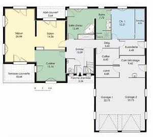 Maison contemporaine 3 Détail du plan de Maison contemporaine 3 Faire construire sa maison