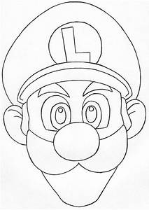Gallery For  U0026gt  Luigi Face Coloring Page