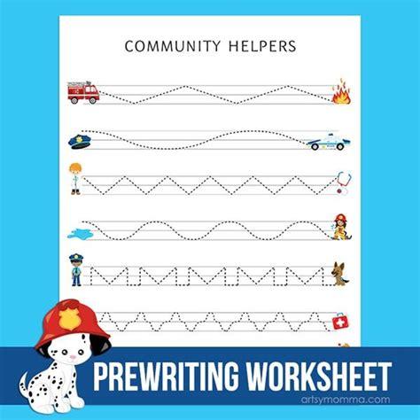 community helpers worksheet preschool  tracing