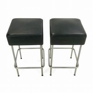 Black Faux Leather Bar Stool & IKEA Black Faux Leather Bar
