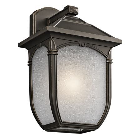 kichler lakeway outdoor wall light kichler 49430rz olde bronze lakeway collection 1 light 14