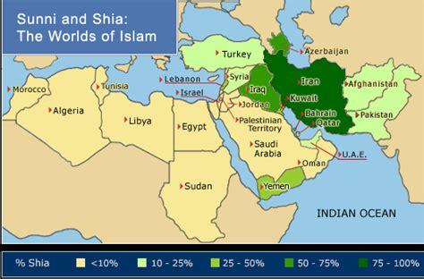 middle east  iran  sunni shia split
