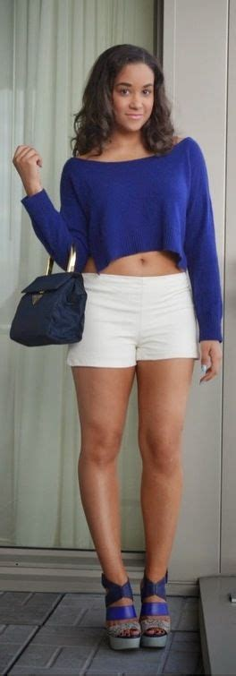 Out About Petite Brunette Leather Shorts Outfit