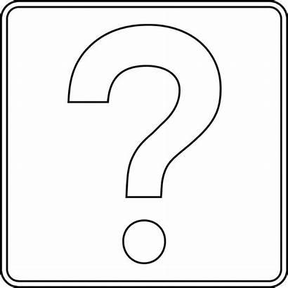 Question Mark Outline Printable Clipart Cliparts Clip