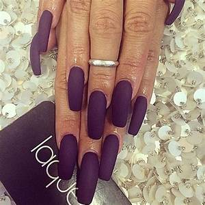 Matte dark purple nails | Nails | Pinterest | Dark purple ...
