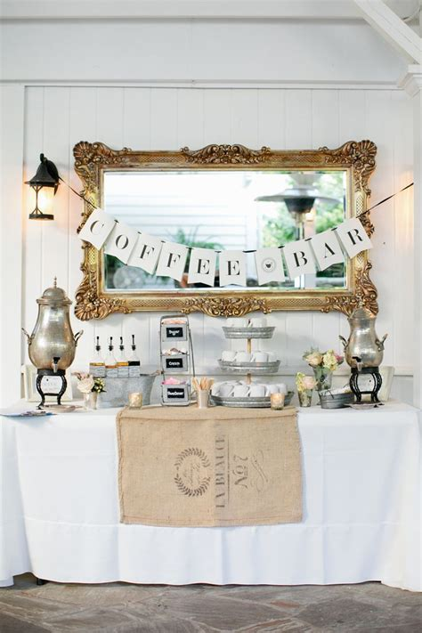 Coffee Bar Wedding For Autumn And Winter Weddings