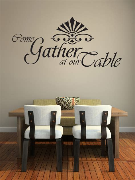 For example word art, frames, and special accessories like spoon and fork for a dining room. Come Gather at our Table Wall Decal Dining Room Wall Art Large J173 | eBay