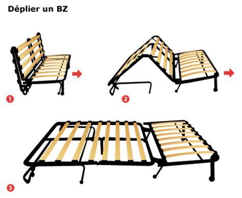 canapé bz méthode de pliage dépliage et prix ooreka