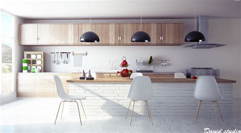 contemporary wood kitchen twists for modern kitchens 2552