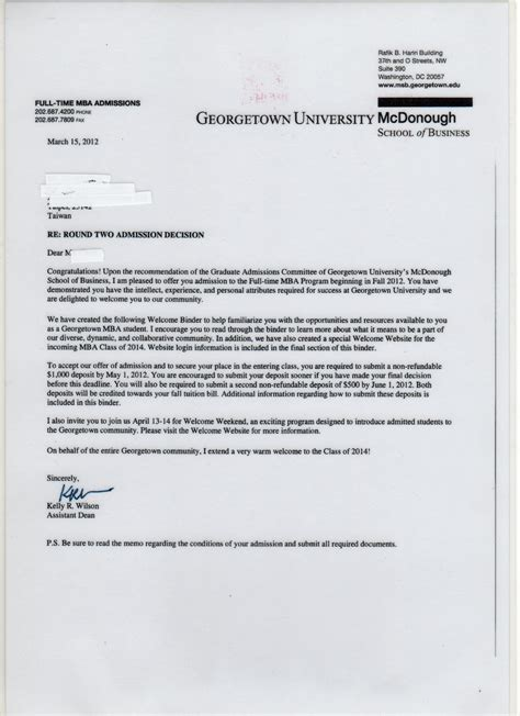 acceptance letters transcend admissions consultants