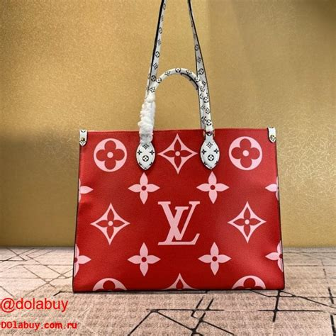 aaa louis vuitton    tote redpink monogram canvas  red