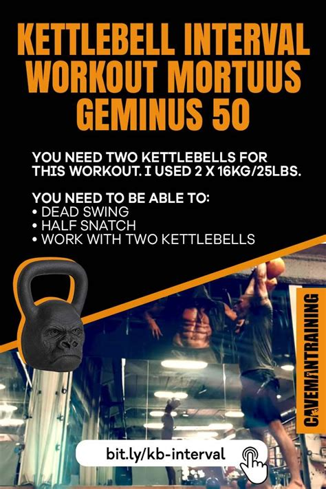 kettlebell workout minute interval cavemantraining daily