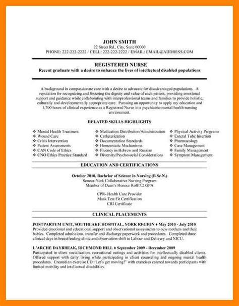Registered Resume Exles by 8 Mental Health Resume Writing A Memo
