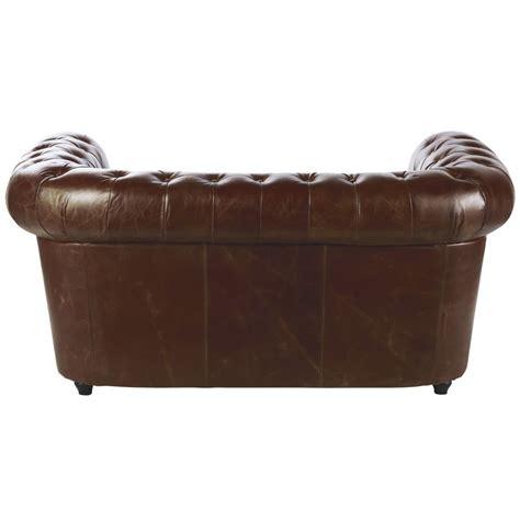 divano cuoio divano imbottito in cuoio marrone 2 posti chesterfield