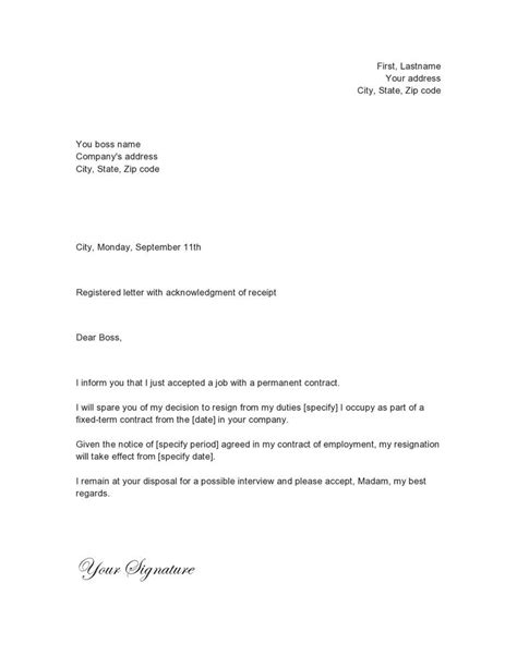 letter  yresignation