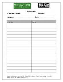 Generic Sign Up Sheet Template