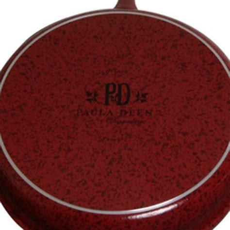 paula deen signature nonstick  piece porcelain cookware set tookcook