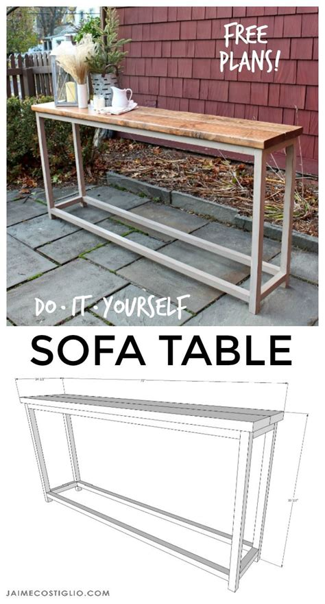 diy sofa table plans diy furniture diy sofa table free plans diy loop