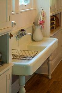 just love these big vintage sinks if i ever have the old With big farm sink