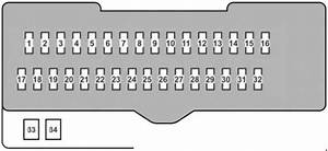Lexus Rx 350  2007 - 2009  - Fuse Box Diagram