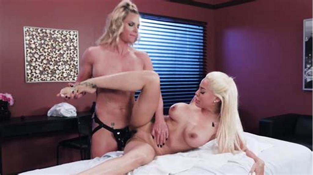 #Luna #Star #Gets #Oiled #Up #For #A #Rough #Lesbian #Strapon #Fuck