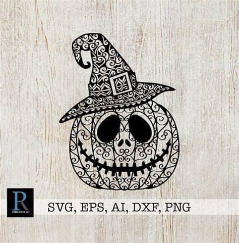 My pinterest board of free zentangle/mandala svgs. Zentangle Halloween Pumpkin Hat SVG Cut File   Etsy