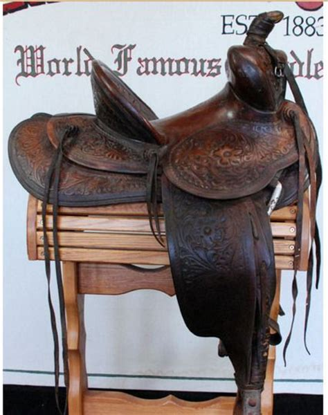 saddle saddles hamley western horse makers maker leather marks tree tack custom fitter form long len gear historic wade mark