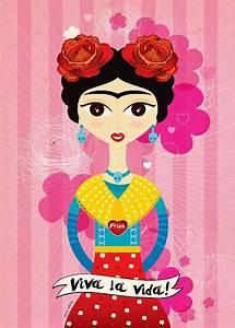 Frida Kahlo Kunstwerk : frida kahlo illustration frida k inspiration pinterest kunst illustrationskunst und retro ~ Markanthonyermac.com Haus und Dekorationen