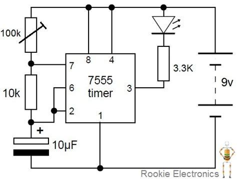 Flashing Led Using Timer Rookie Electronics
