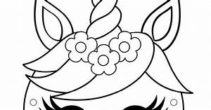Eenhoorn Masker Kleurplaat Pdf